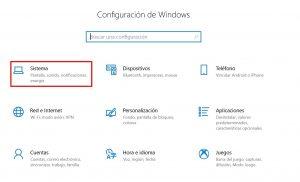 configurar sistema windows 10