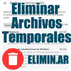 Eliminar archivos temporales de mi computadora